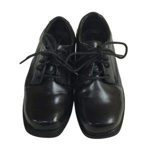 George Boys Size 1 Black Shoes